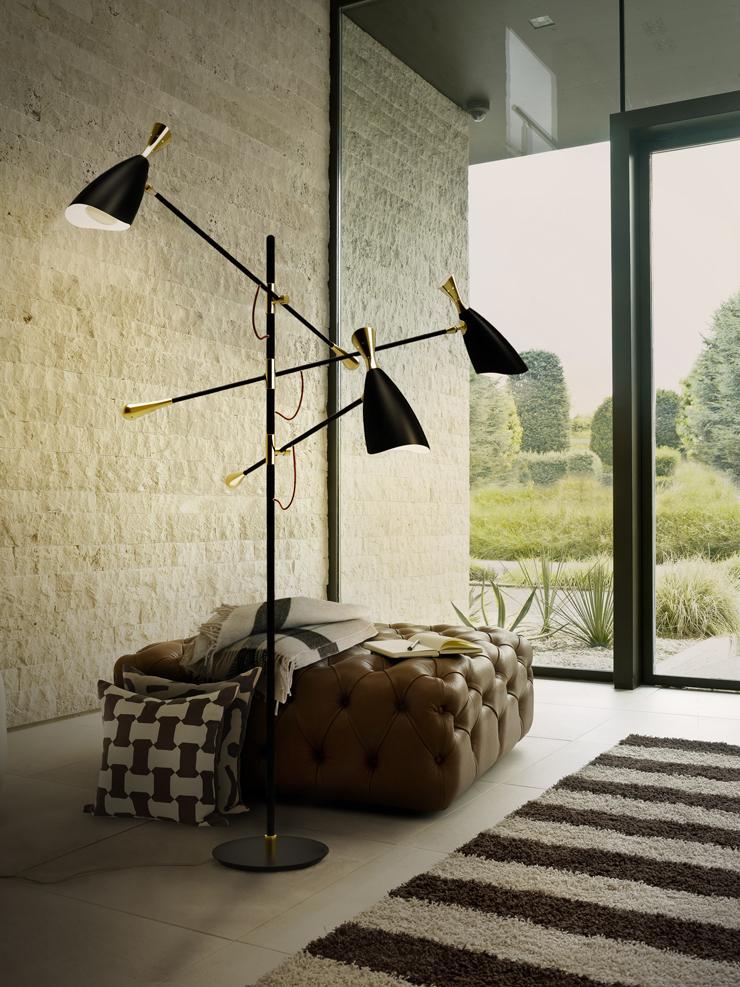 Sala de estar decorada com luminária ramificada: 3 focos de iluminação para que você direcione conforme desejar