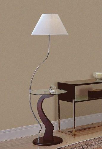 Abajur de chão com base em curva, peça moderna e decorativa para compor a sala de estar