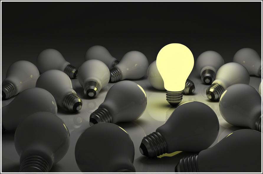 Modelo de luminária de chão com lâmpada em branco quente: luz amarela
