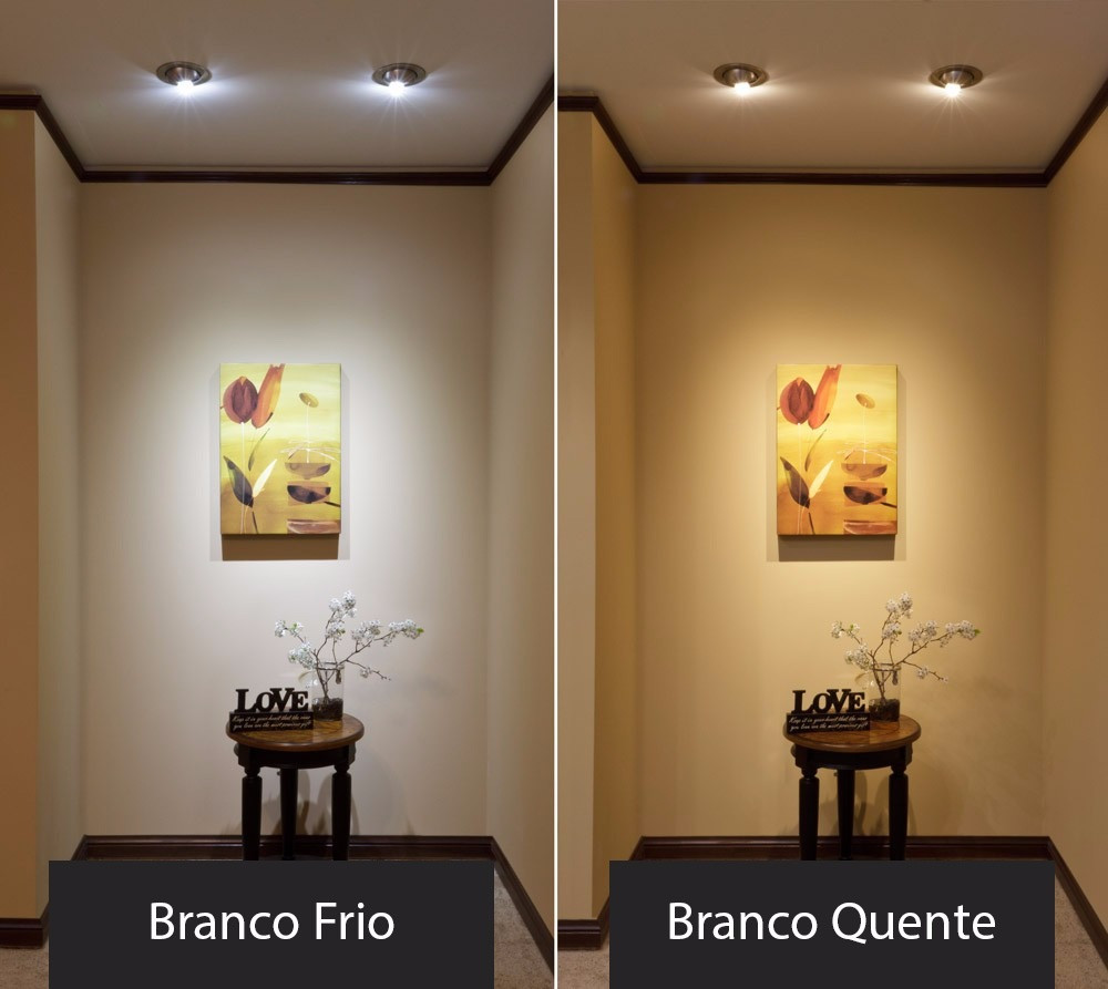 Fique ligado: mesmo lâmpada LED pode ter tonalidade de branco quente, com luz amarela