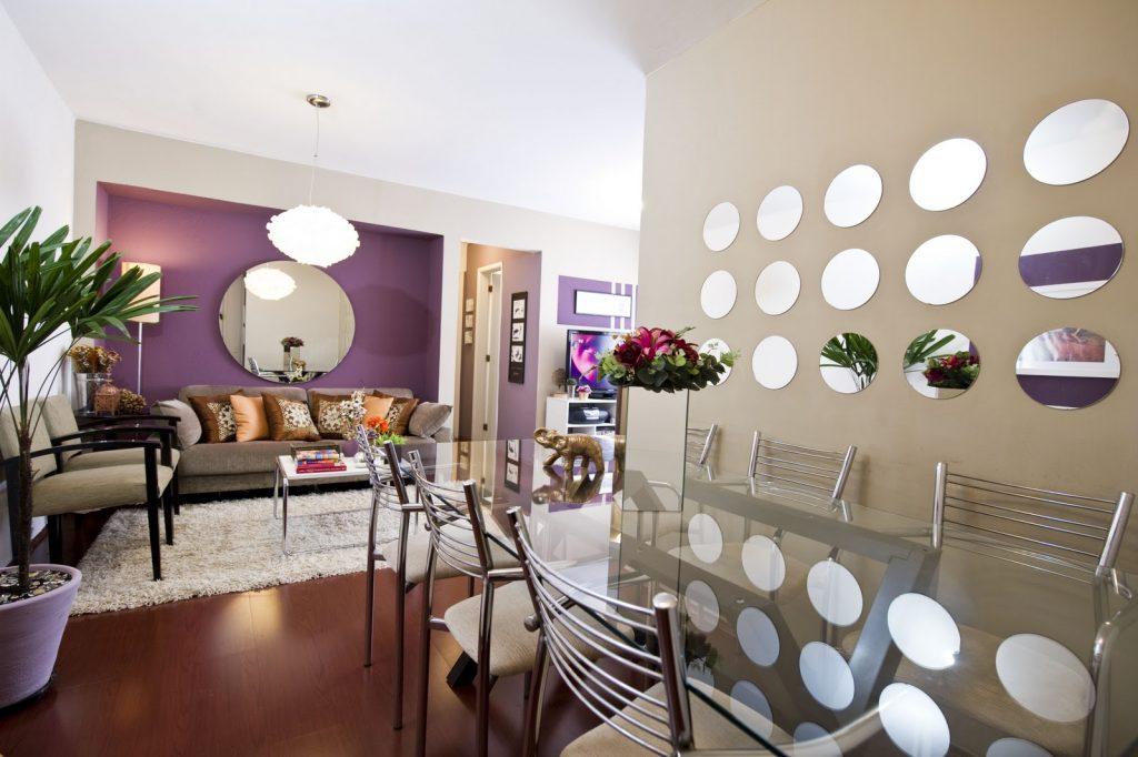 Espelhos decorativos podem ser utilizados em qualquer ambiente e espaço, basta usar a criatividade!