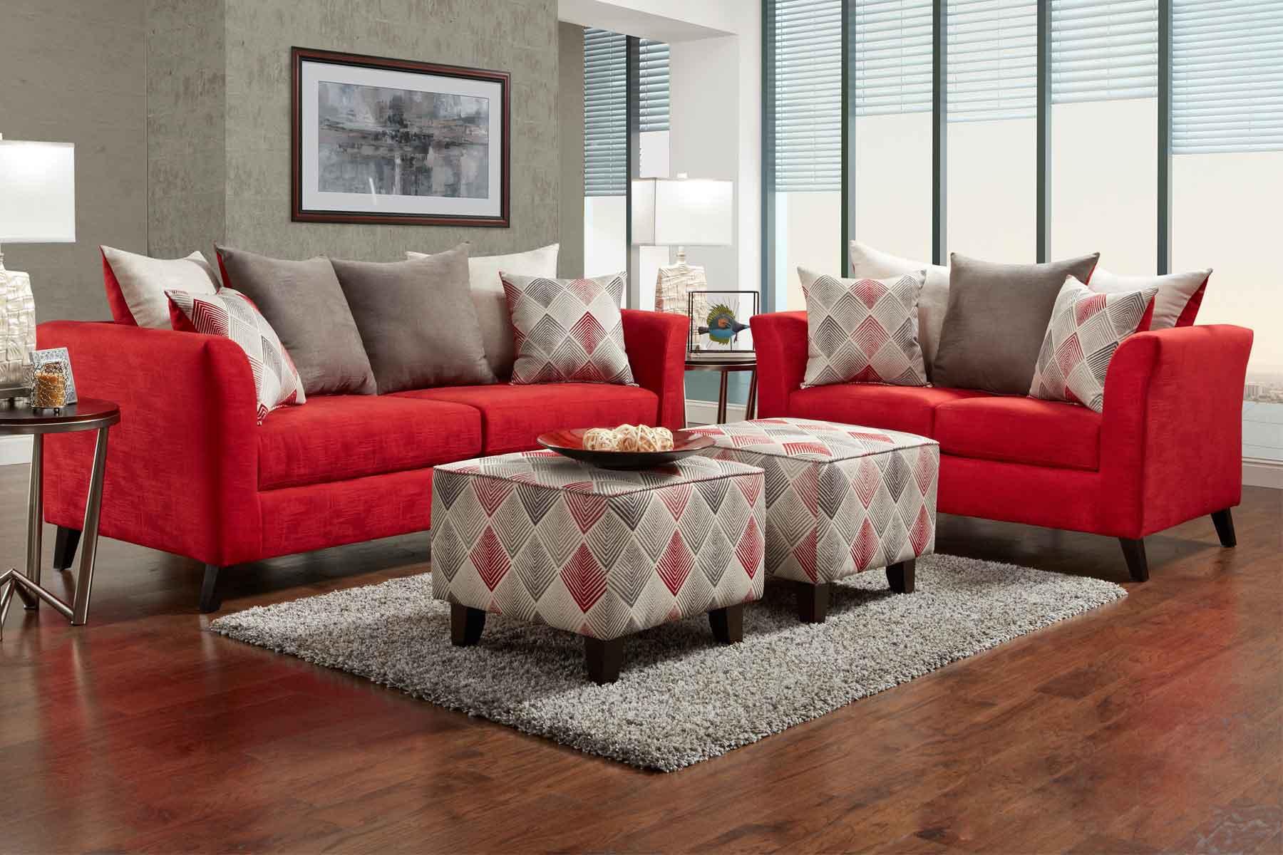 Sof 225 Vermelho Na Sala De Estar Casa Coisas E Tal